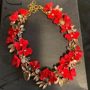 J Crew Red Collar Mardi Gras Necklace